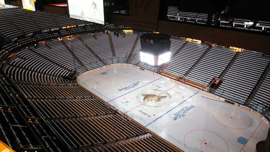 April 12, 2011: The Jobing.com Arena, home of the NHL hockey Phoenix Coyotes, sits empty before a Stanley Cup playoff game in Glendale, Ariz.