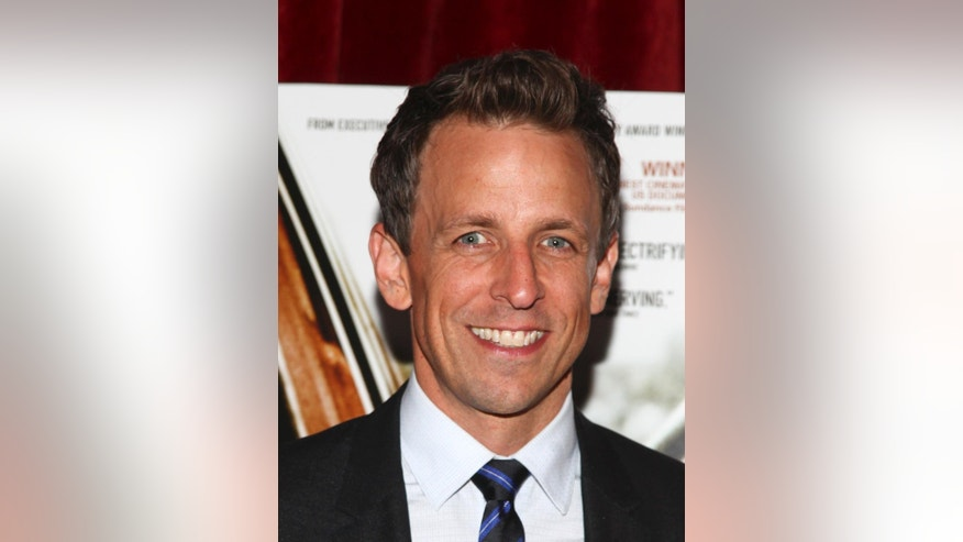 """Seth Meyers attends a special screening of """"Cartel Land"""" hosted by The Cinema Society at the Tribeca Grand on Thursday, June 25, 2015, in New York. (Photo by Andy Kropa/Invision/AP)"""