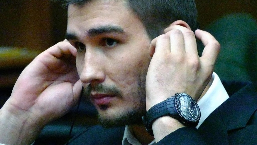 Los Angeles Kings' Slava Voynov appears in Superior Court, Thursday July 2, 2015 in Torrance, Calif. Los Angeles Kings defenseman Slava Voynov pleaded no contest to a misdemeanor Thursday in a domestic violence incident with his wife that escalated after a Halloween party last year.(Brad Graverson/The Daily Breeze via AP)  MAGS OUT; NO SALES; MANDATORY CREDIT