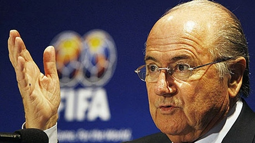 FIFA president Sepp Blatter is shown.