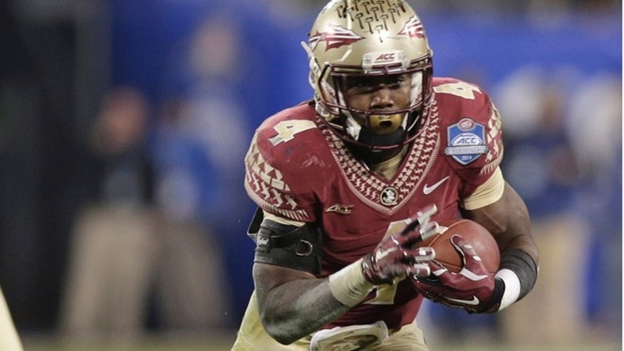 Dec. 6, 2014: Florida State's Dalvin Cook (4) runs against Georgia Tech during the second half of the Atlantic Coast Conference championship NCAA college football game in Charlotte, N.C.