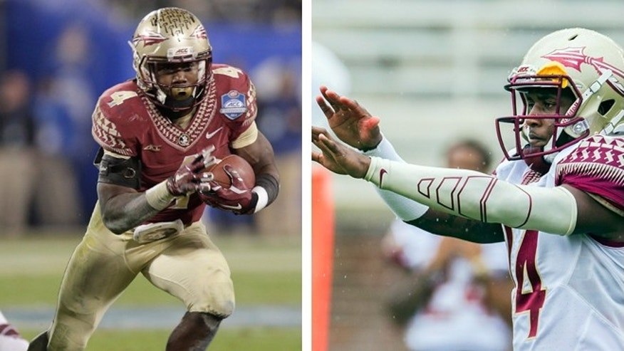 Dalvin Cook, left, and De'Andre Johnson, right, were involved in separate incidents at a bar.