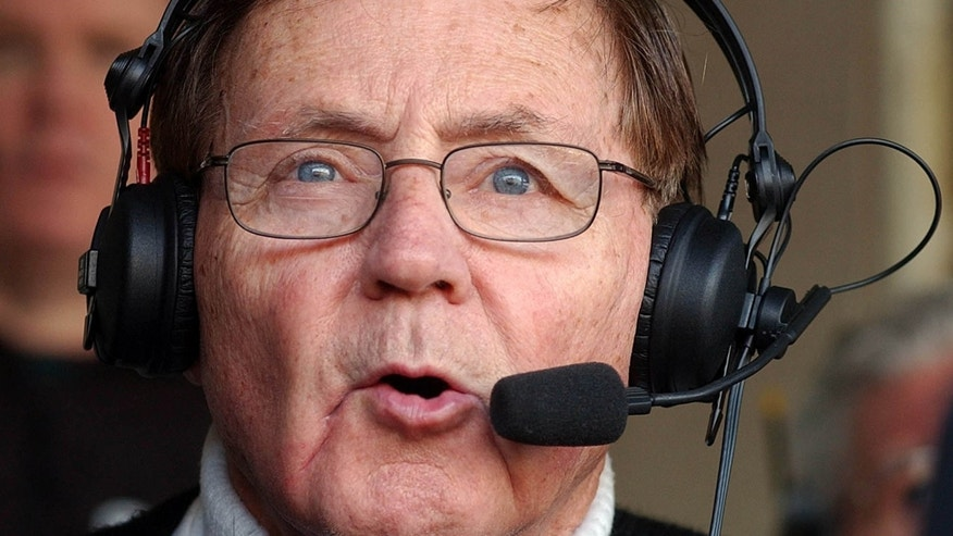 Dec. 21, 2003: Buffalo Bills announcer Van Miller calls a Bills game against the Miami Dolphins at Ralph Wilson Stadium in Orchard Park, N.Y.