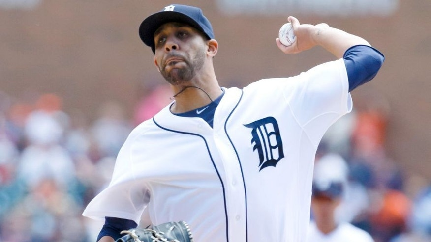 Jun 28, 2015; Detroit, MI, USA; Detroit Tigers starting pitcher David Price (14) pitches in the first inning against the Chicago White Sox at Comerica Park. Mandatory Credit: Rick Osentoski-USA TODAY Sports