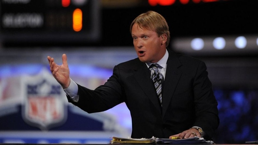 <p>Apr 28, 2011; New York, NY, USA; ESPN analyst Jon Gruden during the 2011 NFL Draft at Radio City Music Hall. Mandatory Credit: <br> </p>