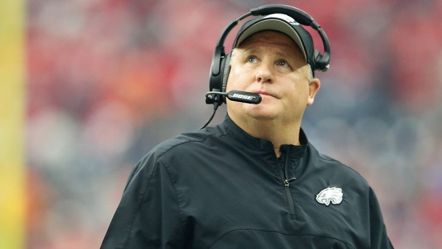Nov 2, 2014; Houston, TX, USA; Philadelphia Eagles head coach Chip Kelly during the game against the Houston Texans at NRG Stadium. Mandatory Credit: Kevin Jairaj-USA TODAY Sports