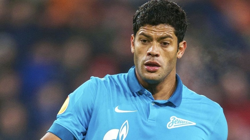 Hulk of FC Zenit during the round of 32 UEFA Europa League match between PSV Eindhoven and Zenit Saint Petersburg on February 19, 2015 at the Philips stadium in Eindhoven, The Netherlands.(Photo by VI Images via Getty Images)