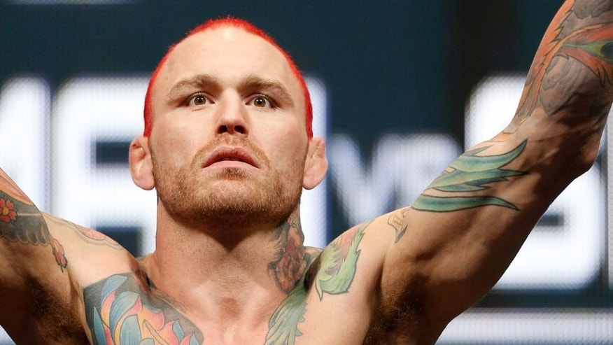 LAS VEGAS, NV - DECEMBER 27: Chris Leben weighs in during the UFC 168 weigh-in at the MGM Grand Garden Arena on December 27, 2013 in Las Vegas, Nevada. (Photo by Josh Hedges/Zuffa LLC/Zuffa LLC via Getty Images)