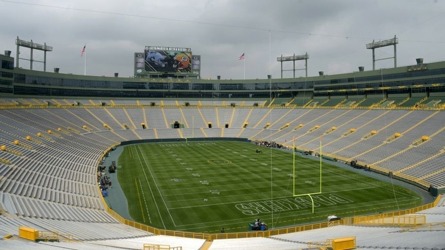 <p>Aug 22, 2014; Green Bay, WI, USA; General view of Lambeau Field before the game between the Oakland Raiders and the Green Bay Packers. Mandatory Credit: Kirby Lee-USA TODAY Sports</p>
