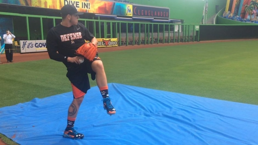 <p>Miami Marlins ace Jose Fernandez threw his second session on Friday afternoon at Marlins Park since undergoing Tommy John surgery in mid-May.</p>