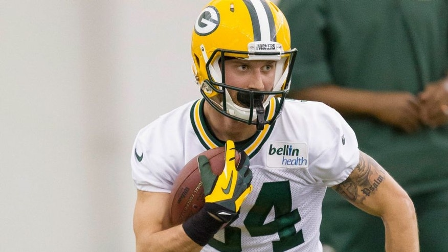 <p>Green Bay Packers fourth round draft pick Jared Abbrederis runs during NFL football rookie camp Friday, May 16, 2014, in Green Bay, Wis. (AP Photo/Mike Roemer)</p>