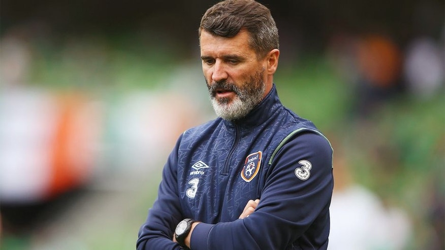 DUBLIN, IRELAND - JUNE 13: Roy Keane, the Republic of Ireland assistant manager looks on prior to the UEFA EURO 2016 Qualifier Group D match between Republic of Ireland and Scotland at Aviva Stadium on June 13, 2015 in Dublin, Ireland. (Photo by Ian Walton/Getty Images)