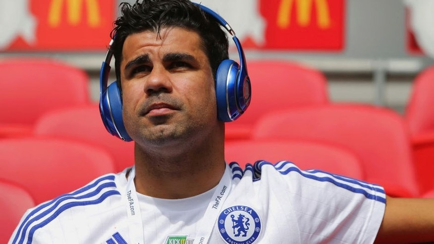 LONDON, ENGLAND - AUGUST 02: Diego Costa of Chelsea looks on prior to the FA Community Shield match between Chelsea and Arsenal at Wembley Stadium on August 2, 2015 in London, England. (Photo by Richard Heathcote - The FA/The FA via Getty Images)
