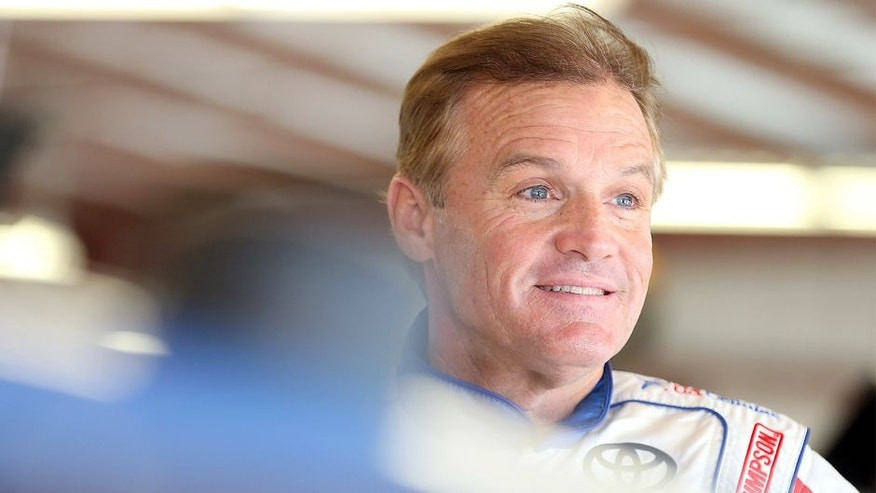 NEWTON, IA - JULY 31: Kenny Wallace, driver of the #20 US Cellular Toyota, during practice for the NASCAR XFINITY Series U.S. Cellular race at Iowa Speedway on July 31, 2015 in Newton, Iowa. (Photo by Brian Lawdermilk/NASCAR via Getty Images)