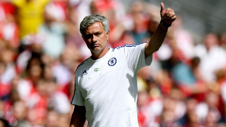 LONDON, ENGLAND - AUGUST 02: Head coach Jose Mourinho of Chelsea gestures during the FA Community Shield match between Chelsea and Arsenal at Wembley Stadium on August 2, 2015 in London, England. (Photo by Shaun Botterill/Getty Images)