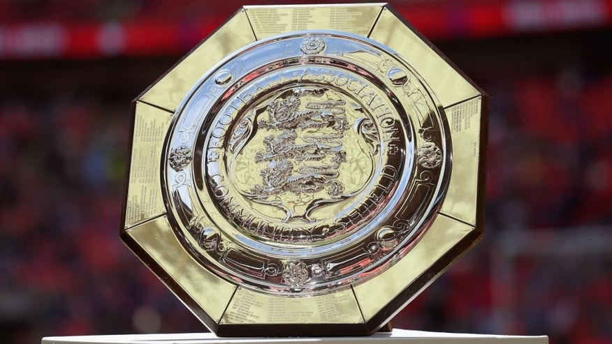 LONDON, ENGLAND - AUGUST 02: The Community Shield Trophy is displayed prior to the FA Community Shield match between Chelsea and Arsenal at Wembley Stadium on August 2, 2015 in London, England. (Photo by Michael Regan - The FA/The FA via Getty Images)