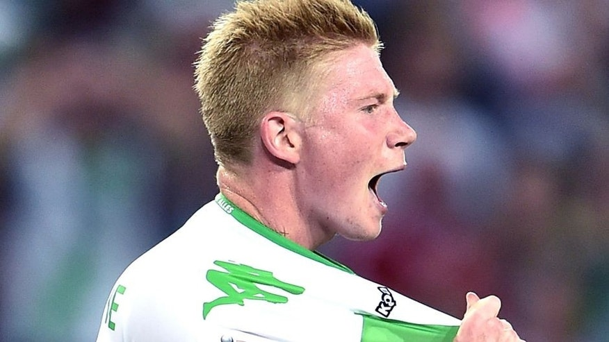 WOLFSBURG, GERMANY - AUGUST 01: Kevin De Bruyne of VfL Wolfsburg reacts during the DFL Supercup 2015 match between VfL Wolfsburg and FC Bayern Muenchen at Volkswagen Arena on August 1, 2015 in Wolfsburg, Germany. (Photo by Dennis Grombkowski/Bongarts/Getty Images)