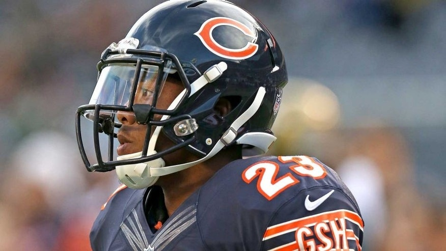 CHICAGO, IL - AUGUST 14: Kyle Fuller #23 of the Chicago Bears warms up prior to a preseason game against the Jacksonville Jaguars at Soldier Field on August 14, 2014 in Chicago, Illinois. (Photo by Jonathan Daniel/Getty Images)