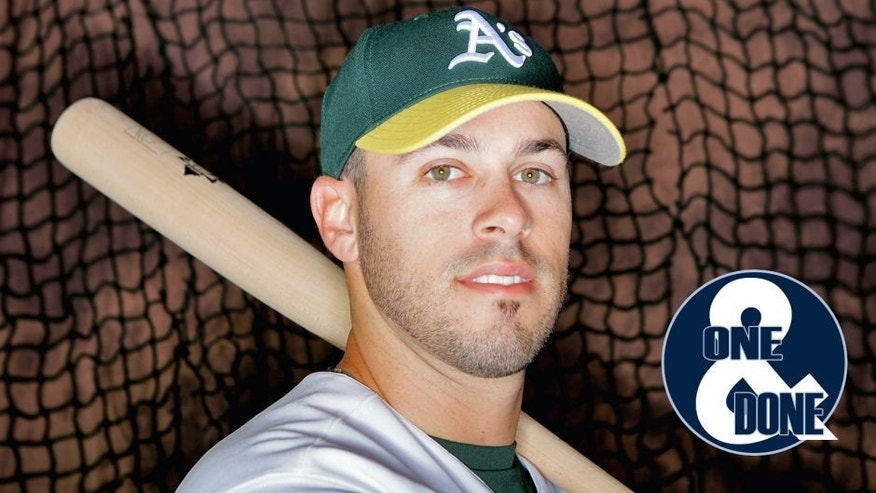 PHOENIX - FEBRUARY 25: Kevin Melillo #8 of the Oakland Athletics poses for a portrait during Spring Training photo day on February 25, 2008 in Phoenix, Arizona. (Photo by Lisa Blumenfeld/Getty Images)