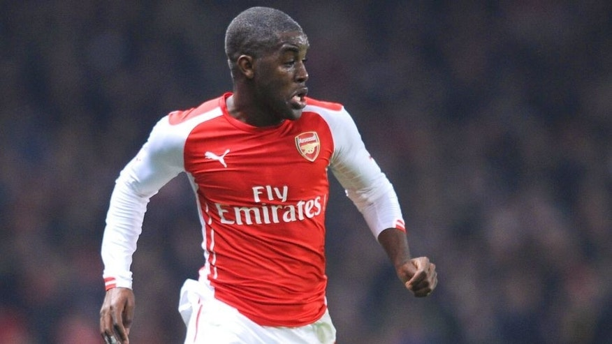 LONDON, ENGLAND - JANUARY 04: Joel Campbell of Arsenal during the FA Cup Third Round match between Arsenal and Hull City at Emirates Stadium on January 4, 2015 in London, England. (Photo by Stuart MacFarlane/Arsenal FC via Getty Images)