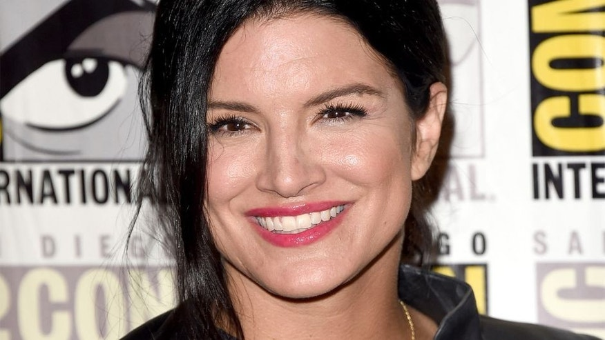 SAN DIEGO, CA - JULY 11: Actress Gina Carano attends the 20th Century Fox press room during Comic-Con International 2015 at the Hilton Bayfront on July 11, 2015 in San Diego, California. (Photo by Jason Merritt/Getty Images)