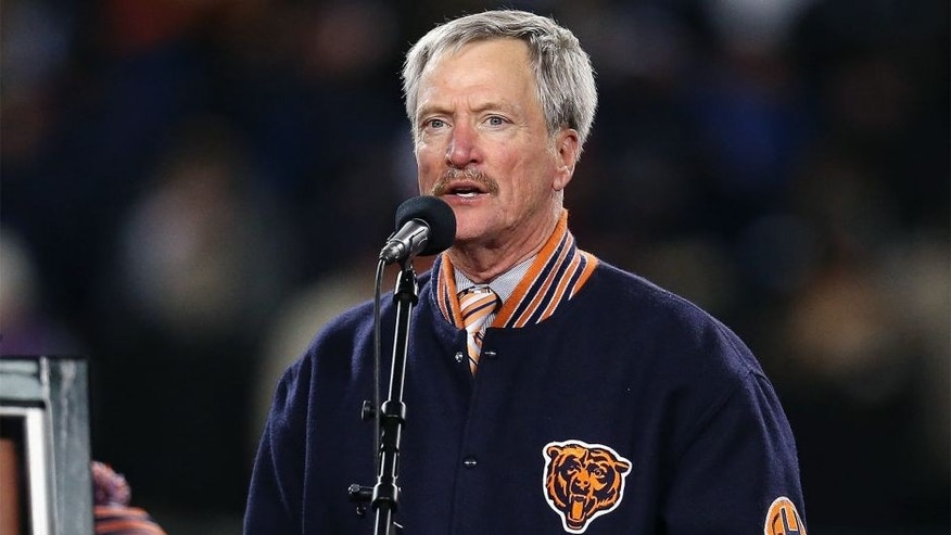 CHICAGO, IL - DECEMBER 09: Chariman George McCaskey of the Chicago Bears speaks during a number retirement ceremony for Mike Ditka during half-time of a game against the Dallas Cowboys at Soldier Field on December 9, 2013 in Chicago, Illinois. The Bears defeated the Cowboys 45-28. (Photo by Jonathan Daniel/Getty Images) *** Local Caption *** George McCaskey