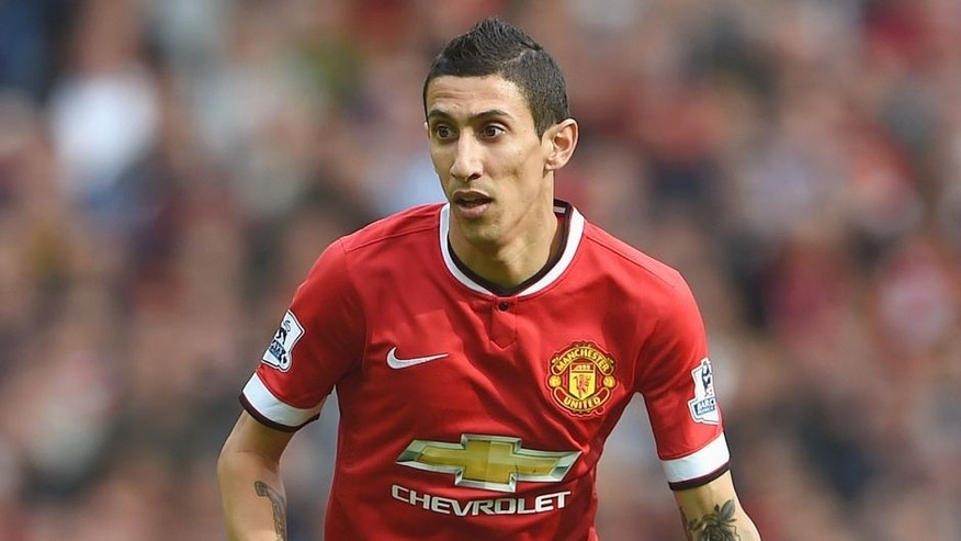 MANCHESTER, ENGLAND - OCTOBER 05: Angel Di Maria of Manchester United in action during the Barclays Premier League match between Manchester United and Everton at Old Trafford on October 5, 2014 in Manchester, England. (Photo by Michael Regan/Getty Images)