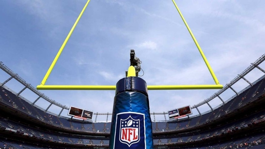 DENVER, CO - SEPTEMBER 23: The goal post aims skyward as the field it ready for the Houston Texans and the Denver Broncos as they face off at Sports Authority Field at Mile High on September 23, 2012 in Denver, Colorado. (Photo by Doug Pensinger/Getty Images)