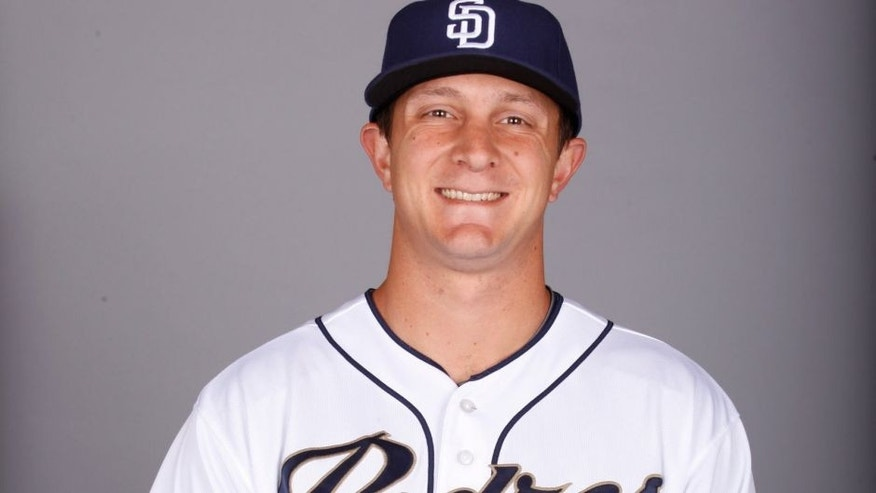 PEORIA, AZ - MARCH 2: Alex Dickerson #64 of the San Diego Padres poses during Photo Day on Monday, March 2, 2015 at Peoria Stadium in Peoria, Arizona. (Photo by Jason Wise/MLB Photos via Getty Images)