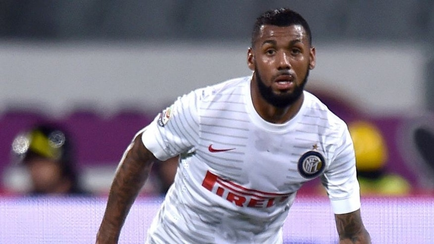 FLORENCE, ITALY - OCTOBER 05: Yann M'Vila of Inter in action during the Serie A match between ACF Fiorentina and FC Internazionale Milano at Stadio Artemio Franchi on October 5, 2014 in Florence, Italy. (Photo by Tullio M. Puglia/Getty Images)