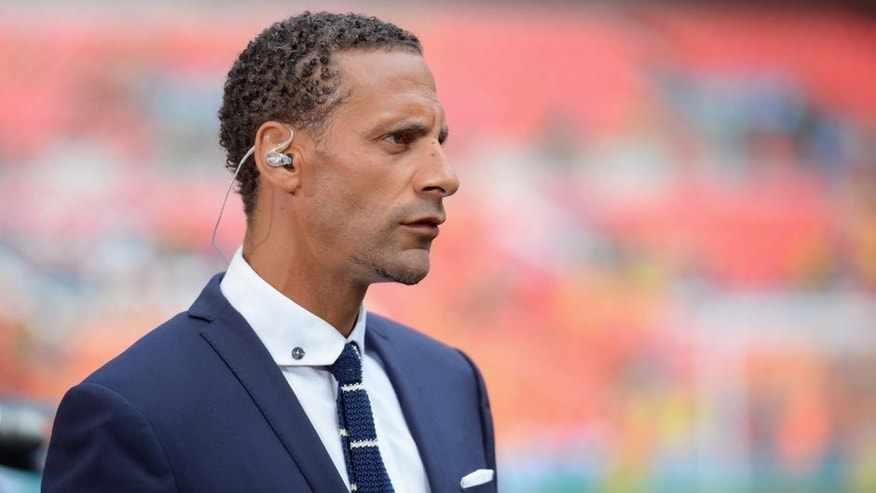 LONDON, ENGLAND - MAY 30: Rio Ferdinand prior to the FA Cup Final between Aston Villa and Arsenal at Wembley Stadium on May 30, 2015 in London, England. (Photo by Michael Regan - The FA/The FA via Getty Images)