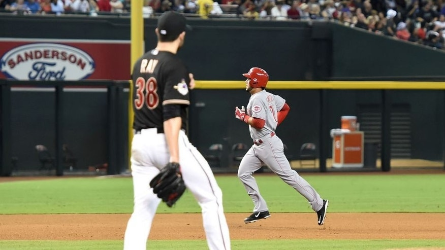 against the Cincinnati Reds at Chase Field on August 8, 2015 in Phoenix, Arizona.
