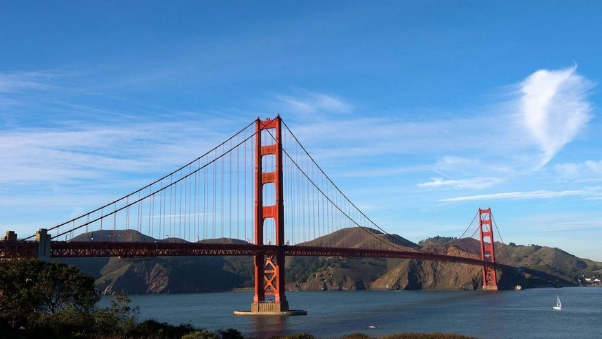 Dec 7, 2012; San Francisco, CA, USA; A general view of the Golden Gate Bridge. Mandatory Credit: Jake Roth-USA TODAY Sports