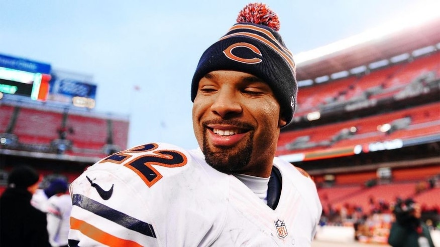 Dec 15, 2013; Cleveland, OH, USA; Chicago Bears running back Matt Forte (22) walks off the field after defeating the Cleveland Browns 38-31 at FirstEnergy Stadium. Mandatory Credit: Andrew Weber-USA TODAY Sports