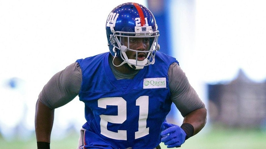 Jun 16, 2015; East Rutherford, NJ, USA; New York Giants safety Landon Collins (21) participates in practice during minicamp at Quest Diagnostics Training Center. Mandatory Credit: Steven Ryan-USA TODAY Sports