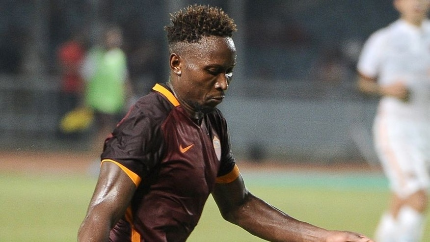 JAKARTA, INDONESIA - JULY 25: Mapou Yanga Mbiwa of AS Roma in action during the international friendly match between AS Roma A and AS Roma B at Gelora Bung Karno Stadium on July 25, 2015 in Jakarta, Indonesia. (Photo by Robertus Pudyanto/Getty Images)
