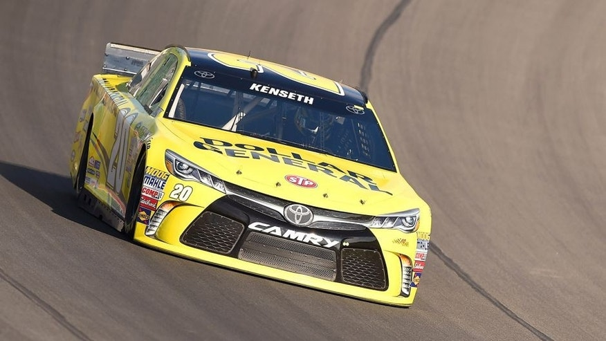BROOKLYN, MI - AUGUST 15: Matt Kenseth drives the #20 Dollar General Toyota during practice for the NASCAR Sprint Cup Series Pure Michigan 400 at Michigan International Speedway on August 15, 2015 in Brooklyn, Michigan. (Photo by Josh Hedges/Getty Images)