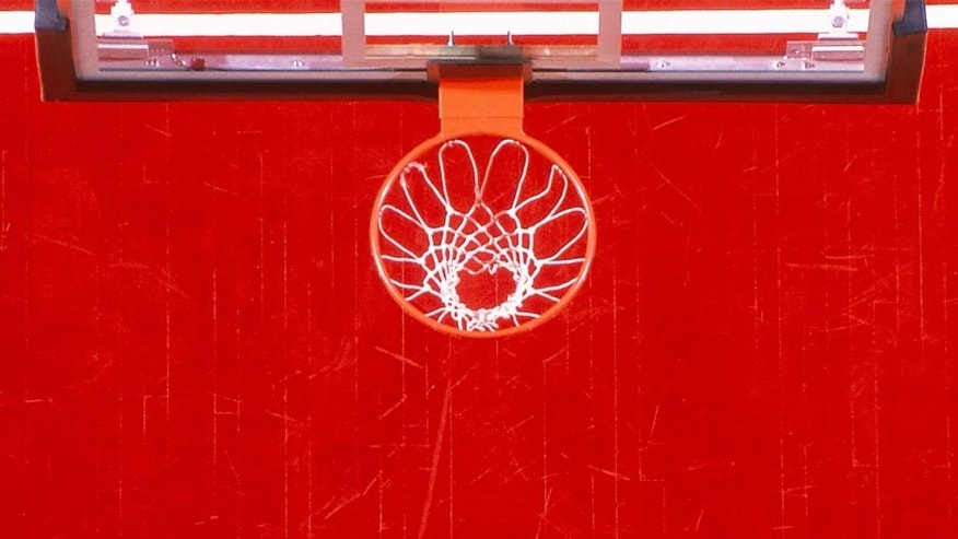 Not Released: Basketball basket and court, overhead view (Photo by Doug Pensinger/Getty Images)