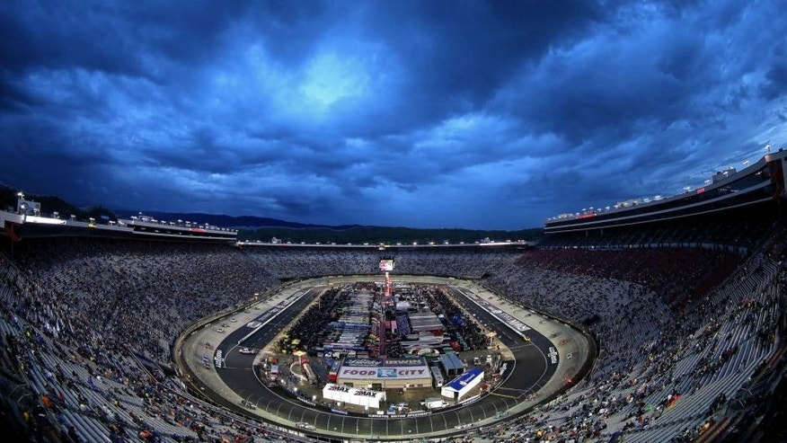 BRISTOL, TN - APRIL 19: A general view of the track during the NASCAR Sprint Cup Series Food City 500 at Bristol Motor Speedway on April 19, 2015 in Bristol, Tennessee. (Photo by Mike Ehrmann/Getty Images)