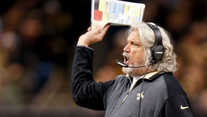 Dec 7, 2014; New Orleans, LA, USA; New Orleans Saints defensive coordinator Rob Ryan during the first half of a game against the Carolina Panthers at the Mercedes-Benz Superdome. Mandatory Credit: Derick E. Hingle-USA TODAY Sports