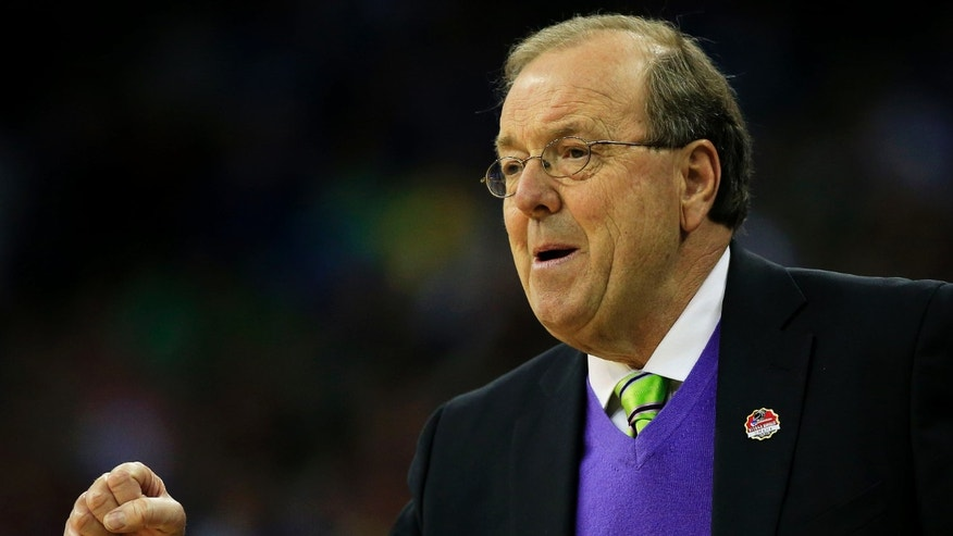 OMAHA, NE - MARCH 20:  Head coach Cliff Ellis of the Coastal Carolina Chanticleers looks on in the first half against the Wisconsin Badgers during the second round of the 2015 NCAA Men's Basketball Tournament at the CenturyLink Center on March 20, 2015 in Omaha, Nebraska.  (Photo by Jamie Squire/Getty Images)