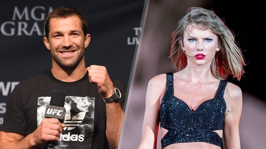UFC middleweight contender Luke Rockhold interacts with fans during a Q&A session before the UFC 187 weigh-in at the MGM Grand Conference Center on May 22, 2015 in Las Vegas, Nevada. (Photo by Josh Hedges/Zuffa LLC/Zuffa LLC via Getty Images) Taylor Swift performs at CenturyLink Field on August 8, 2015 in Seattle, Washington. (Photo by Suzi Pratt/LP5/Getty Images for TAS)