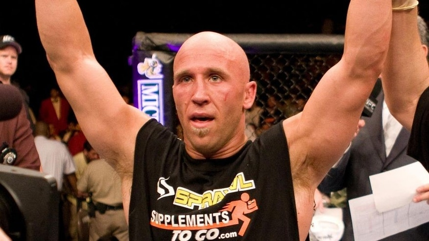 LAS VEGAS - JULY 8: Josh Burkman is victorious over Josh Neer at UFC 61 at the Mandalay Bay Events Center on July 8, 2006 in Las Vegas, Nevada. (Photo by Josh Hedges/Zuffa LLC/Zuffa LLC via Getty Images)