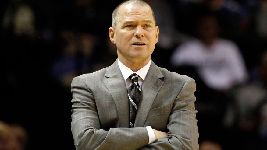 Dec 29, 2013; San Antonio, TX, USA; Sacramento Kings head coach Michael Malone watches from the sideline during the first half against the San Antonio Spurs at the AT&T Center. Mandatory Credit: Soobum Im-USA TODAY Sports