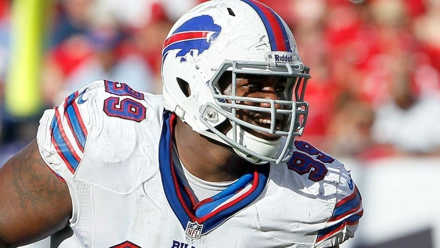 TAMPA, FL - DECEMBER 8: Defensive tackle Marcell Dareus #99 of the Buffalo Bills during the game against the Tampa Bay Buccaneers at Raymond James Stadium on December 8, 2013 in Tampa, Florida. Tampa Bay defeated Buffalo Bills 27-6. (Photo by Don Juan Moore/Getty Images)