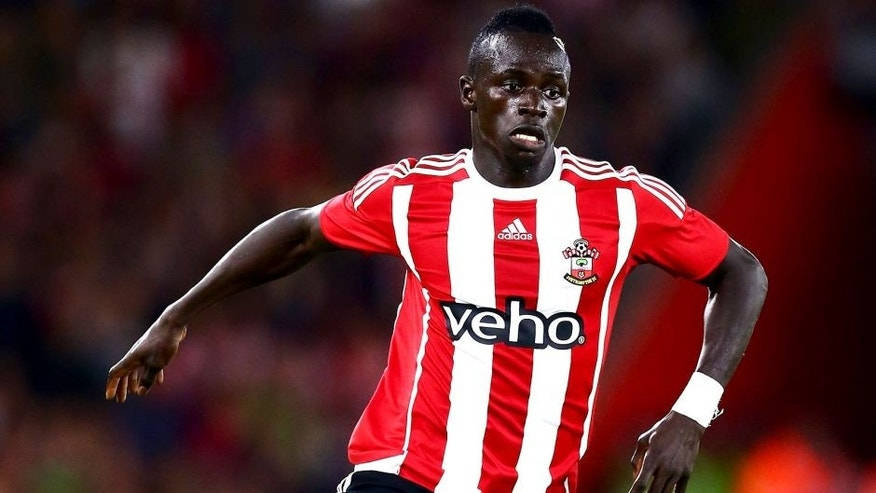 SOUTHAMPTON, ENGLAND - AUGUST 20: Sadio Mane of Southampton in action during the UEFA Europa League Play Off Round 1st Leg match between Southampton and Midtjylland at St Mary's Stadium on August 20, 2015 in Southampton, England. (Photo by Jordan Mansfield/Getty Images)