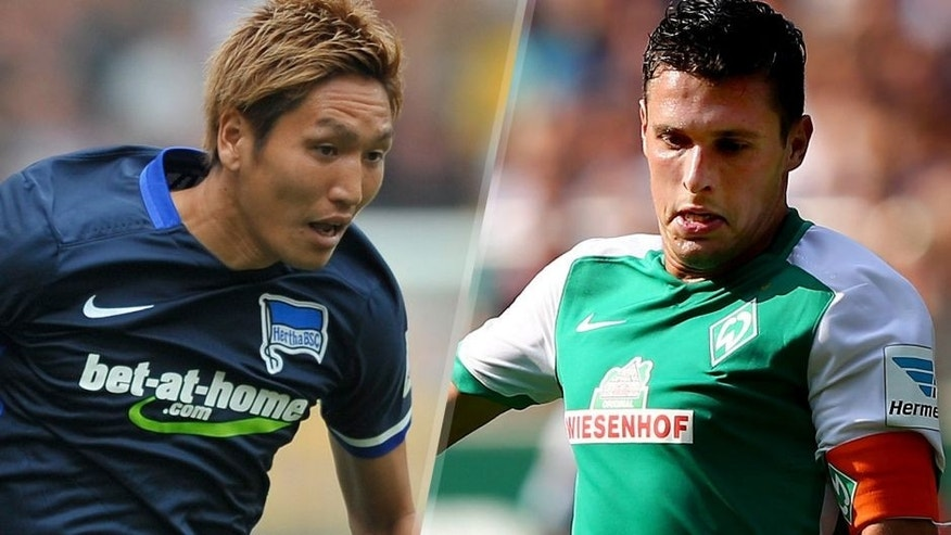Genki Haraguchi of Hertha BSC in action during the Bundesliga match between FC Augsburg and Hertha BSC at WWK-Arena on August 15, 2015 in Augsburg, Germany. (Photo by Lennart Preiss/Bongarts/Getty Images) Zlatko Junuzovic of Bremen runs with the ball during the Bundesliga match between SV Werder Bremen and Schalke 04 at Weserstadion on August 15, 2015 in Bremen, Germany. (Photo by Martin Rose/Bongarts/Getty Images)