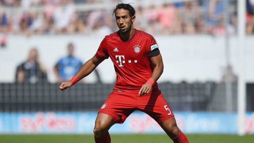 SINSHEIM, GERMANY - AUGUST 22: Medhi Benatia of Muenchen controls the ball during the Bundesliga match between 1899 Hoffenheim and FC Bayern Muenchen at Wirsol Rhein-Neckar-Arena on August 22, 2015 in Sinsheim, Germany. (Photo by Matthias Hangst/Bongarts/Getty Images)