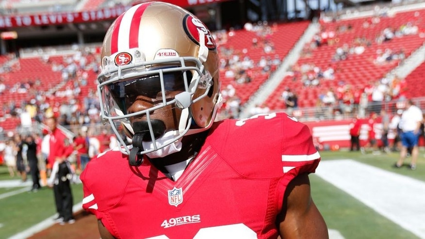 SANTA CLARA, CA - AUGUST 23: Kendall Hunter #32 of the San Francisco 49ers stands on the field prior to the game against the Dallas Cowboys at Levi Stadium on August 23, 2015 in Santa Clara, California. The 49ers defeated the Cowboys 23-6. (Photo by Michael Zagaris/San Francisco 49ers/Getty Images)