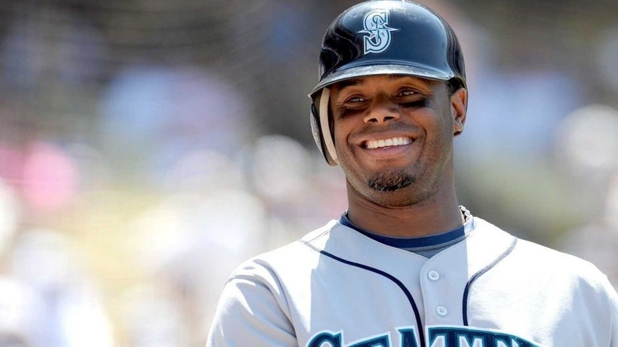 LOS ANGELES, CA - JUNE 28: Ken Griffey Jr. #24 of the Seattle Mariners waits on deck during the game against the Los Angeles Dodgers at Dodger Stadium on June 28, 2009 in Los Angeles, California. (Photo by Lisa Blumenfeld/Getty Images)